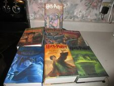 J K Rowling First American Edition of all 7 HARRY POTTER Books HCDJ VGC
