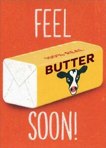 Get Well Greeting Card - Feel Butter Soon
