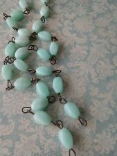 Jadeite Jadite Mint Green Milk Glass Beaded Chandelier Chain Seafoam Green