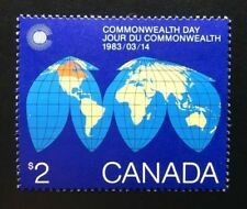 Canada #977 MNH, Map of the Earth - Commonwealth Day Stamp 1983