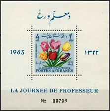 Afghanistan 1963 Teachers Day, Flowers MNH M/S #D90118