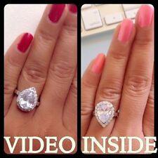 Pear Diamond Costume Rings
