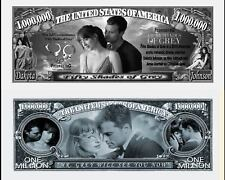 50 NUANCES DE GREY Billet MILLION DOLLAR US! Cinema Christian Dornan Erotique sm