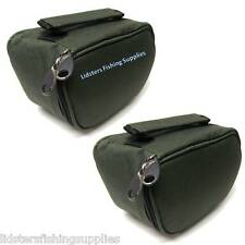 2 x New Deluxe Green Reel Cases Bags Carp Pike Fishing Tackle