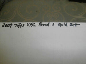 2009 Topps UFC Round 1 Complete GOLD Base Card Set 1-99 &  Checklist