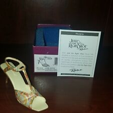 "Just the Right Shoe, Raine, ""Riviera"" mixed media miniature # 25310 Nib Coa 2002"