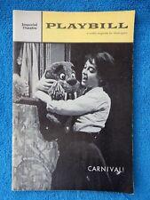 Carnival - Imperial Theatre Playbill - October 23rd, 1961 - Alberghetti