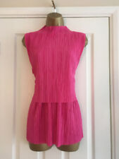 NEXT Ladies Pink Pleated Tiered Sleeveless Top Size 18