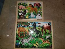Melissa and Doug Puzzles - Farm and Horses Themes