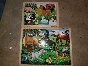 Melissa and Doug Puzzles - Farm and Horses Themes