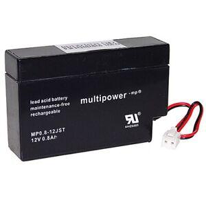 Multipower MP0.8-12S 12V 0,8Ah JST AGM (VRLA)