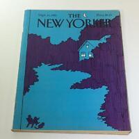 The New Yorker: September 21 1981 Full Magazine/Theme Cover Arthur Getz