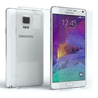 Schutz Hülle + Panzerglas f. Samsung Galaxy Note 4 Handy Case Cover Silikon