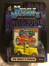 2001 Muscle Machines : 1940 '40 Willy's Pickup Truck  1:64 Scale - 01-51