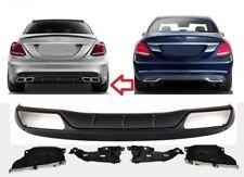 Diffusor C63 AMG Look Heckdiffusor Heckschürze Für C-Klasse W205 Mercedes-Benz l