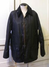 Barbour x JCrew Collab Equestrian Bedale Jacket 42 Black waxed cotton 19353 swag