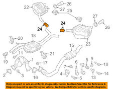 AUDI OEM 04-12 A8 Quattro 4.2L-V8 Exhaust-Rear Muffler Clamp 1K0253141N