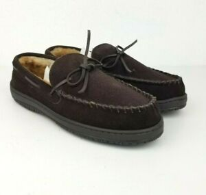 Clarcks Sherman Men Sz 9M 22SH-011 Brown Lined Slipper House Shoes Suede
