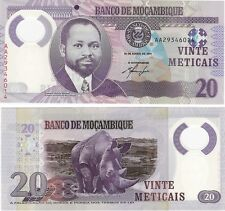 Mozambique 20 mozambiqueños 2011 P-149 UNC polímero billete nota-RHINO + Gratis