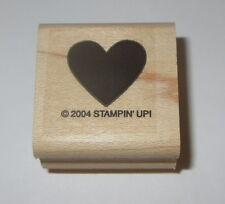 Heart Stampin' Up! Love Rubber Stamp New Wood Mounted Retired Background