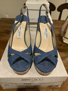 Jimmy Choo Denim Espadrille 41