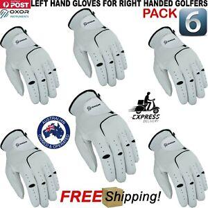 OXOR Men's Golf Gloves Cabretta Leather 6 Pack Right Hand Left LH RH Rain Grip