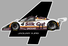 STICKER JAGUAR XJR9 NUMERO 4 TWR IMSA GT 12x8cm AUTOCOLLANT AU004