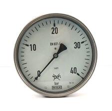 """WIKA Manometer Ø160mm waagerecht unten 0 bis 40 bar 1/2"""" 1.4571 Edelstahl NEU"""