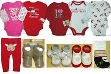 My First Christmas Bodysuits Pants Boots Socks Baby Girls Holiday Daddy Grandma