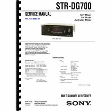 Sony STR-DG700 Stereo Receiver Service Manual (Pages: 80) 11x17 Drawings