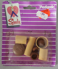 Vintage 1983 Pedigree Sindy doll kitchen utensils storage jars cannisters 44383C