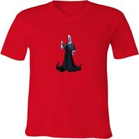 Disney Hades God of the Underworld Unisex Men Women Cartoon V-Neck T-Shirt