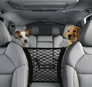 Car Dog Pet Barrier Guard Back Seat Safety Protector Mesh Net For SUV Truck USA