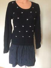 NEW Victoria's Secret Flirty Long Sleeve Embellished Dress Size Small