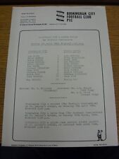 03/04/1984 Birmingham City RESERVES V Oxford United riserve (singolo foglio). BO
