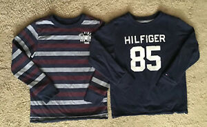 Kids boys TOMMY HILFIGER reversible casual pullover  size S (6-8y)