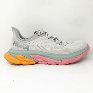 Hoka One One Mens Clifton Edge 1110510 NCLR Gray Running Shoes Lace Up Size 10.5