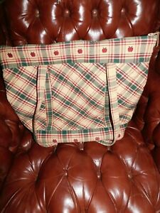 PARK DESIGNS PLAID BAG LARGE HAND WOVEN INDIA BEAUTIFUL 100% COTTON LUGGAGE