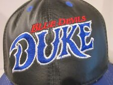 VTG DUKE BLUE DEVILS LEATHER BASEBALL CAP HAT USA MADE SNAPBACK ADJUSTABLE