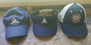 Golf Hat Lot of 3 ~ Congressional Country Club Hats and Visor