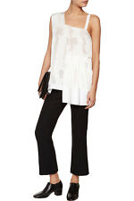 Stella McCartney snow drop one shoulder assymetric silk blouse NWT EU 36 S $1545