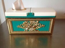 Beautiful Double Sided Tissue Box Cover Oriental / European Style with trash bin