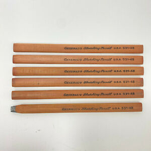 Vintage General's Sketching Pencils USA 531-4B   new Old Stock