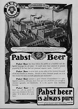 PABST BEER IS ALWAYS PURE PABST PLANT BREWED IN MILWAUKEE SCIENTIFIC BREWING AD