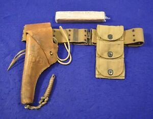 ORIGINAL EXCELLENT WWI US COLT OR S&W 1917 REVOLVER COMPLETE HOLSTER BELT RIG