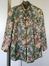 Unique Beautiful Rare Vintage Traditional Chinese Embroidered Floral Jacket