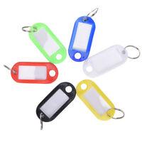 10Pieces plastic keychain key ring ID tag business card Label language key chain