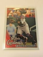 2010 Topps Chrome Baseball Base Card #161 - Yadier Molina - St. Louis Cardinals