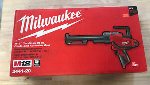 New Milwaukee 2441-20 M12 12V Volt 10 oz. Cordless Caulk and Adhesive Gun Li-ion
