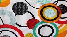 Tessuto Cotone Doppio Desigual Cerchi Astratto Scampoli 280x280 cm